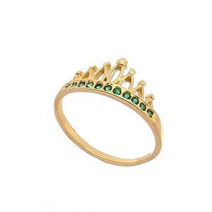 Imagem de Anel coroa com pedras zircônia - 0105635