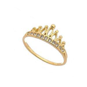 Imagem de Anel coroa com pedras zircônia - 0105645