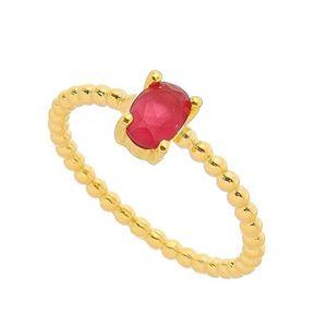 Imagem de Anel com pedra oval natural - 0105585 Pink