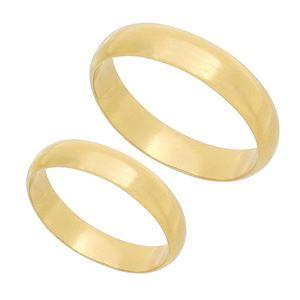 Imagem de Par aliança Ouro 18k 750 peso 10gr - 1800006