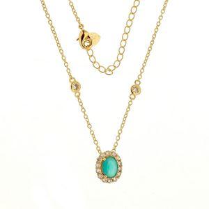 Imagem de Corrente Tiffany com pingente pedra - 0302944 Verde e Azul