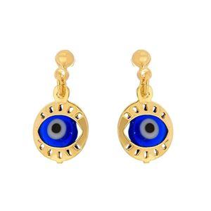Imagem de Brinco olho grego - 0518182 Azul escuro e Azul claro