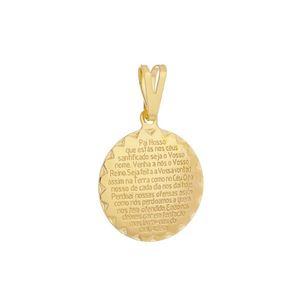Imagem de Pingente medalha oração Pai Nosso - 0205685