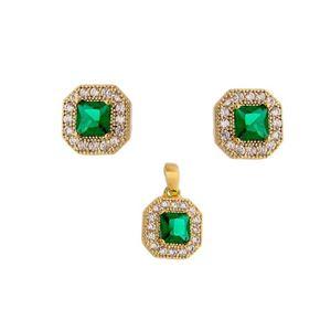 Imagem de Conjunto com pedra zircônia -1100257 Verde
