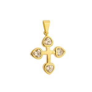 Imagem de Pingente cruz com pedra zircônia - 0205681