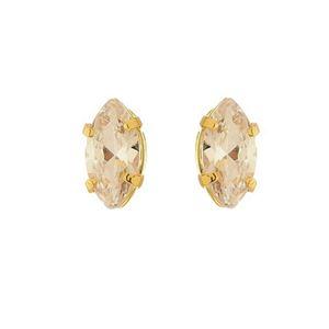 Imagem de Brinco fixo pedra 10x5mm zircônia - 0518428