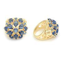 Imagem de Maxi anel pedra azul natural - 0104941