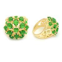 Imagem de Maxi anel pedra verde natural - 0104941