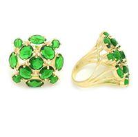 Imagem de Maxi anel pedra verde natural - 0104942