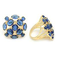 Imagem de Maxi anel pedra azul natural - 0104942