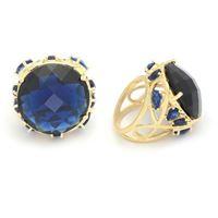 Imagem de Maxi anel pedra 23mm azul natural - 0104944