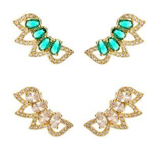 Imagem de Brinco ear cuff pedra zircônia - 0518586 Verde e Branco