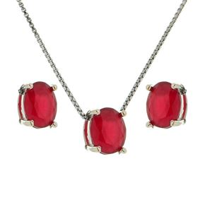 Imagem de Conjunto pedra oval natural - 1100275 Pink