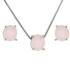 Imagem de Conjunto pedra oval natural - 1100278 Rosa