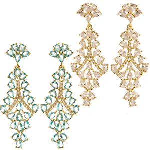 Imagem de Brinco com pedra zircônia - 0518585 Branco e Azul