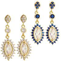Imagem de Brinco com pedras zircônia - 0518654 Branco e Azul