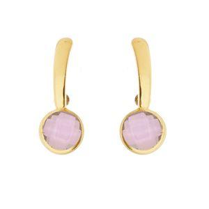 Imagem de Brinco pedra cristal rosa - 0518674
