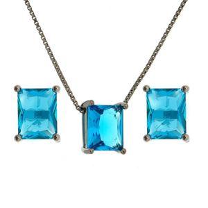 Imagem de Conjunto pedra natural - 1100302 Azul Turmalina