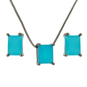Imagem de Conjunto pedra natural - 1100305 Azul Leitoso