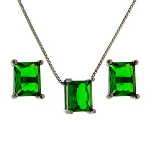 Imagem de Conjunto pedra natural - 1100308 Verde Esmeralda