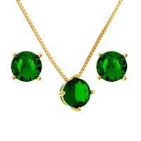 Imagem de Conjunto pedra natural - 1100317 Verde Esmeralda