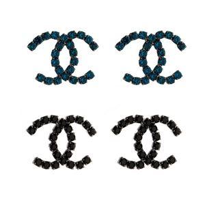 Imagem de Brinco réplica com pedras strass - 0518631# Cores