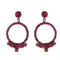 Imagem de Brinco pedras strass - 0518632# Pink e Preto
