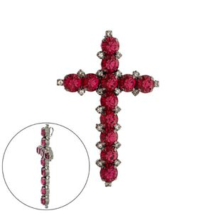 Imagem de Pingente pedras strass - 0205743# Pink e Preto