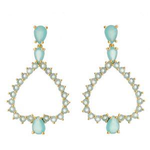 Imagem de Brinco com pedras natural - 0518437 Azul e Rosa