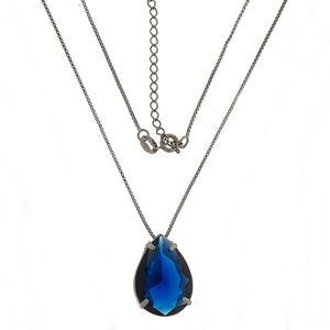 Imagem de Corrente com pedra natural gota - 0303244 Azul