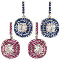Imagem de Brinco com pedra zircônia - 0518849* Azul e Pink