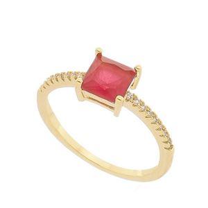 Imagem de Anel com pedra natural e zircônia - 0105798 Pink