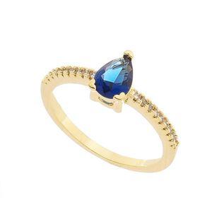 Imagem de Anel pedra gota natural - 0105799 Azul Safira