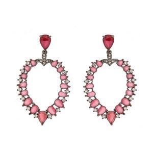 Imagem de Brinco pedras natural e zircônia - 0518830# Pink e Verde