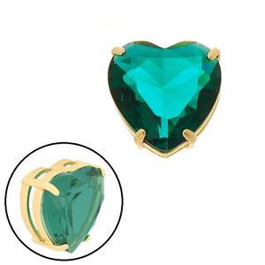 Imagem de Pingente coração pedra natural verde - 0205869