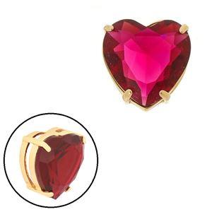 Imagem de Pingente coração pedra natural pink - 0205871