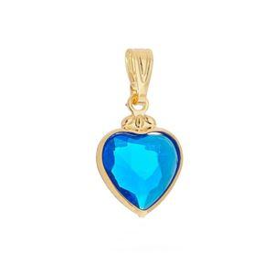 Imagem de Pingente coração com pedra azul - 0205883