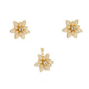 Imagem de Conjunto flor com pedra strass - 1100371