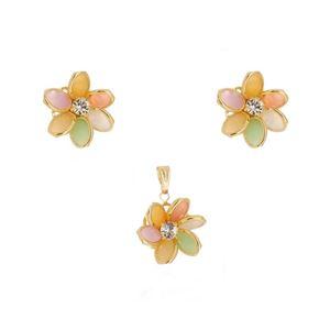 Imagem de Conjunto flor com pedra strass - 1100372