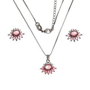 Imagem de Conjunto pedra natural e zircônia - 1100379 Pink