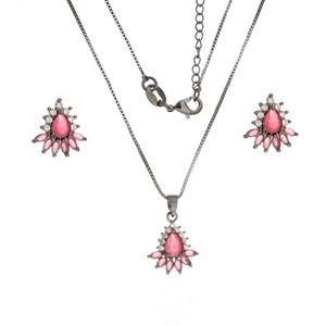 Imagem de Conjunto pedra natural e zircônia - 1100383 Pink