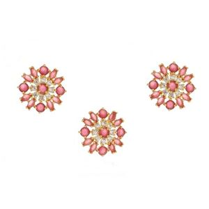 Imagem de Conjunto pedra natural e zircônia - 1100385 Pink