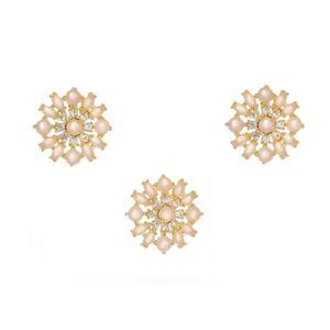 Imagem de Conjunto pedra natural e zircônia - 1100386 Rosa
