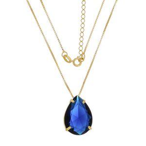 Imagem de Corrente com pedra natural gota - 0303321 Azul e Verde