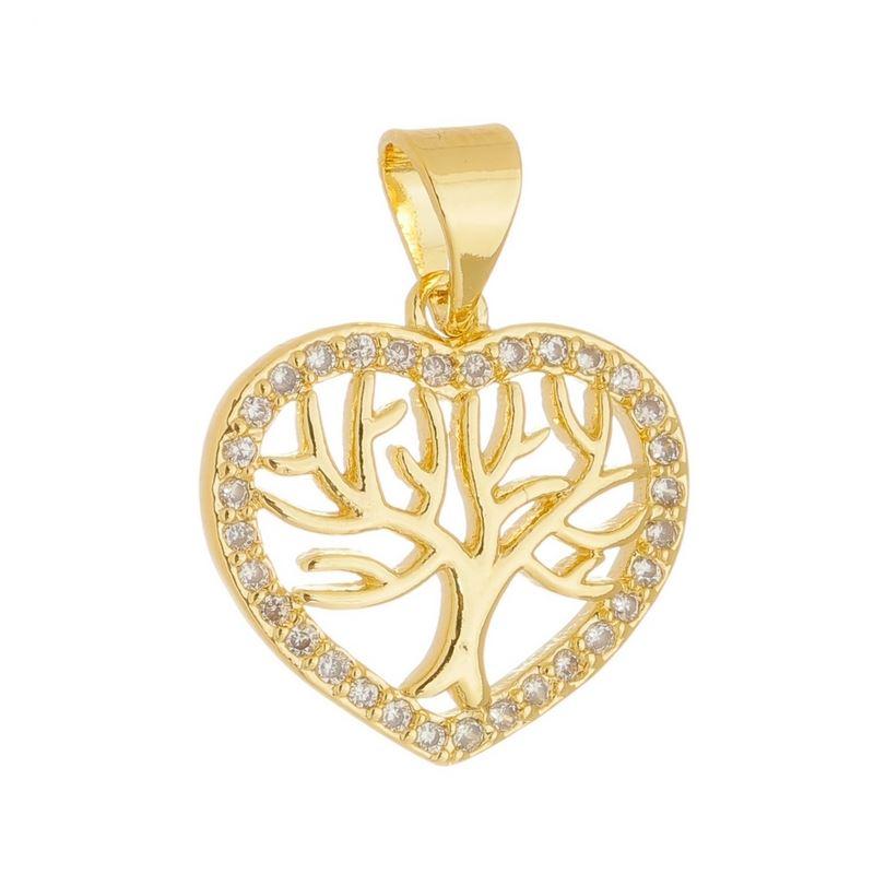 46063d912cfb7 Status Semi Jóias - 35 anos - Pingente coração árvore da vida - 0205893