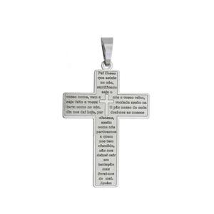 Imagem de Pingente cruz com oração do Pai Nosso - 0205932*