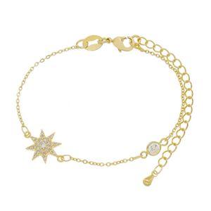 Imagem de Pulseira cadeado com estrela - 0404351