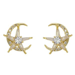 Imagem de Brinco lua e estrela zircônia - 0519436