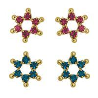 Imagem de Brinco fixo estrela - 0519388 Várias Cores