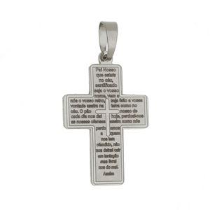 Imagem de Pingente cruz com oração Pai Nosso - 0205937^
